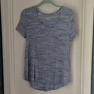Tops - Simple Blue Heathered T-Shirt